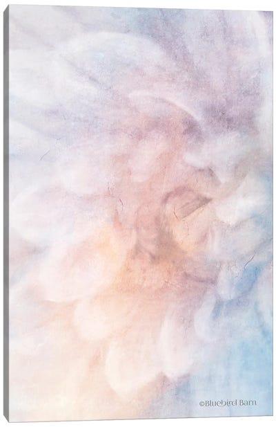 Soft Dahlia Pastel Blue Lilac Canvas Art Print