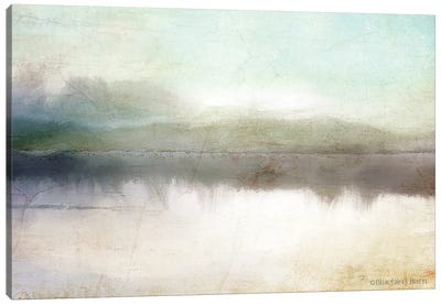 Soft Lake Landscape Canvas Art Print
