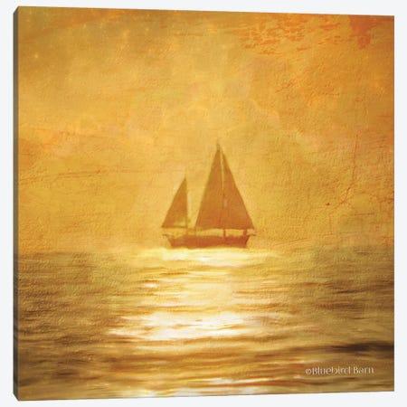 Solo Gold Sunset Sailboat Canvas Print #BLB88} by Bluebird Barn Canvas Print