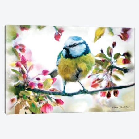 Spring Yellow Bird on a Bough Canvas Print #BLB91} by Bluebird Barn Canvas Art