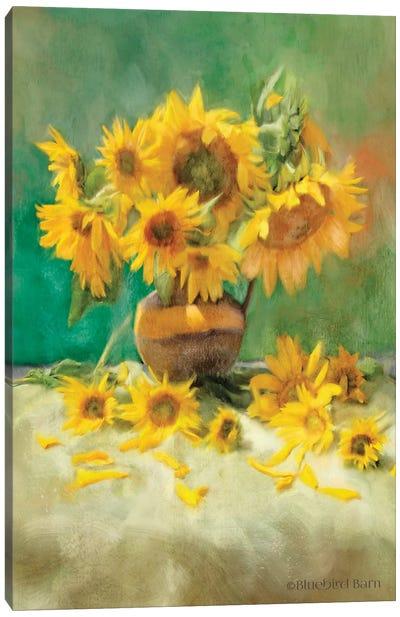 Sunflower Scatter Still Life Canvas Art Print
