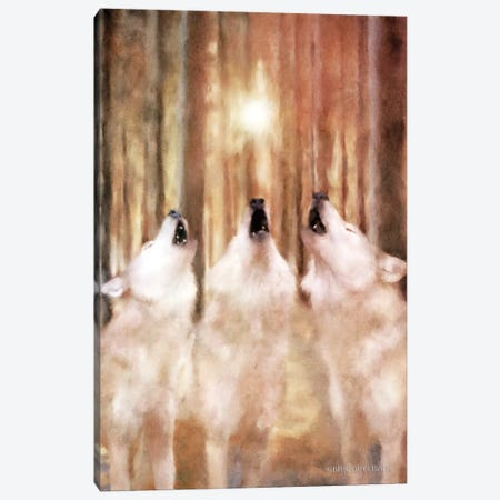 Three Wolf Howl Canvas Print #BLB96} by Bluebird Barn Canvas Print
