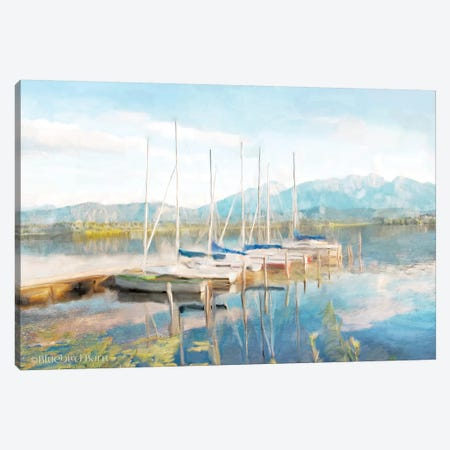 Blue Sky Fishing Day Canvas Print #BLB9} by Bluebird Barn Canvas Wall Art