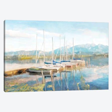 Blue Sky Fishing Day Canvas Print #BLB9} by Bluebird Barn Canvas Wall Art