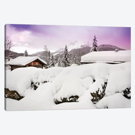Winter's Magic Canvas Print #BLI112} by Beli Canvas Art Print