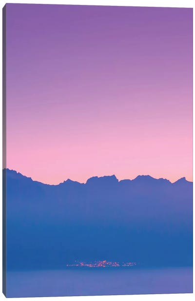 Mountains At Sunset Canvas Art Print