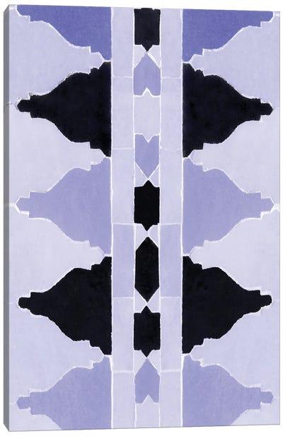 Moroccan Pattern Stylish Blue Zellige Canvas Art Print