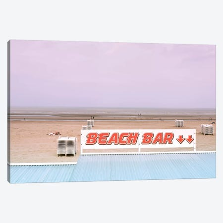 Beach Bar And Ocean Canvas Print #BLI14} by Beli Canvas Art