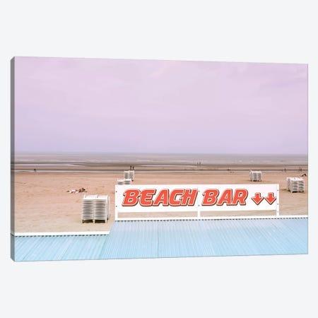 Beach Bar And Ocean Canvas Print #BLI14} by Beli Canvas Art