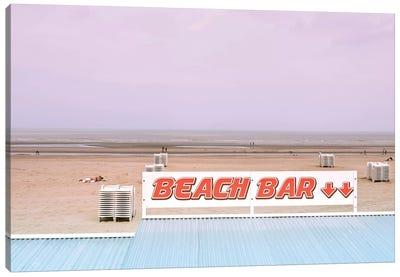 Beach Bar And Ocean Canvas Art Print