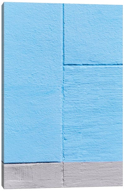 Blue Painting On The Wall Canvas Art Print