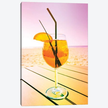 Cocktail At The Beach Canvas Print #BLI25} by Beli Art Print