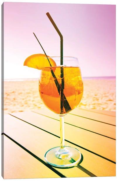 Cocktail At The Beach Canvas Art Print
