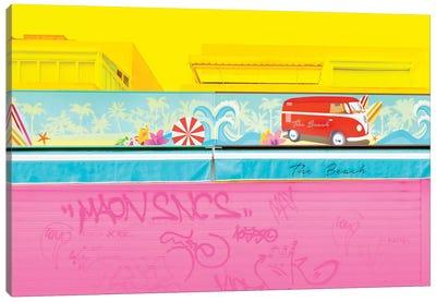 Graffiti Beach Canvas Art Print