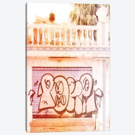 Graffiti Sunset Palms Canvas Print #BLI42} by Beli Canvas Artwork