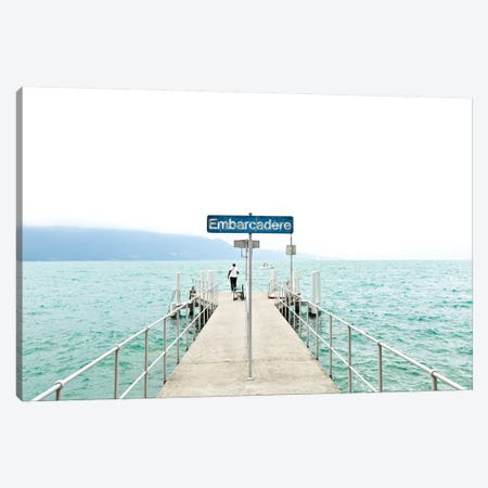 Leman Jetty Canvas Print #BLI52} by Beli Canvas Print