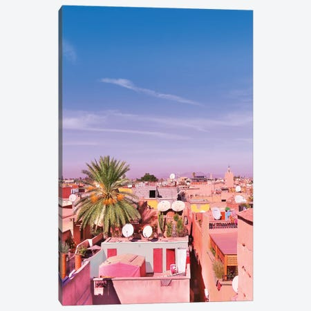 Marrakech Rooftop Canvas Print #BLI56} by Beli Canvas Artwork