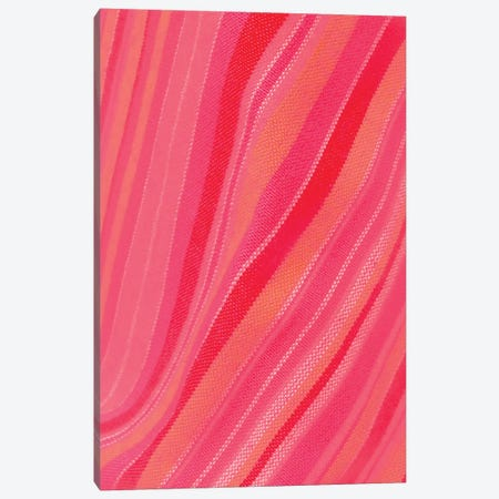 Abstract Stripe Waves Pattern Canvas Print #BLI5} by Beli Canvas Art