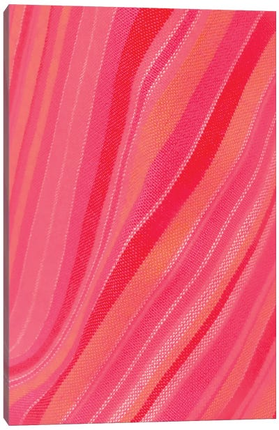 Abstract Stripe Waves Pattern Canvas Art Print
