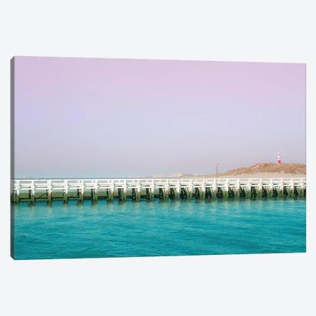 North Sea Pier Canvas Print #BLI66} by Beli Canvas Print