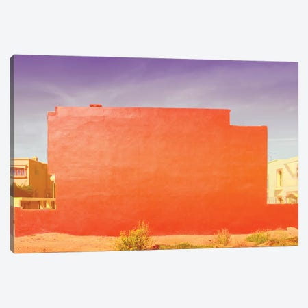 Red Abstract Canvas Print #BLI76} by Beli Canvas Art