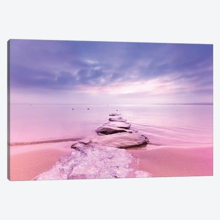 Rock The Sunset Landscape Canvas Print #BLI78} by Beli Art Print