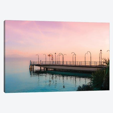 Along Geneva Lake At Sunset Canvas Print #BLI7} by Beli Canvas Artwork