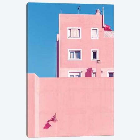 Sunny House And Blue Sky Canvas Print #BLI92} by Beli Art Print
