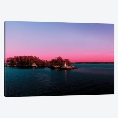 Sunset Over The Island Canvas Print #BLI95} by Beli Canvas Art