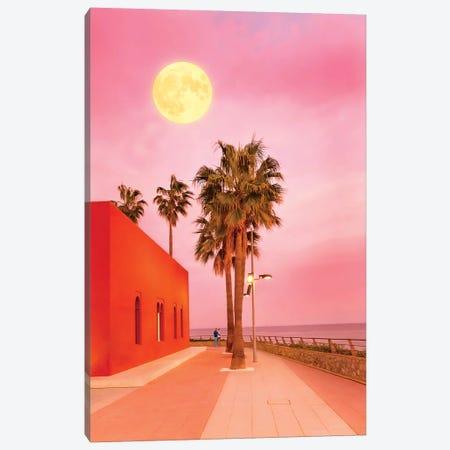 Super Moon At Sunset Canvas Print #BLI96} by Beli Canvas Art