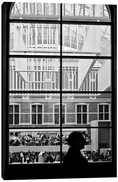 Amsterdam Window Canvas Art Print