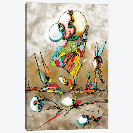 Galactic Sea Canvas Print #BLO109} by J.Bello Studio Canvas Wall Art