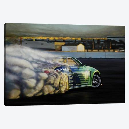 Drigting Car III Canvas Print #BLO13} by J.Bello Studio Art Print