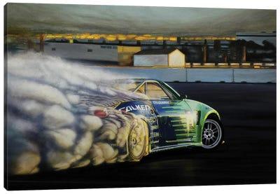 Drigting Car III Canvas Art Print