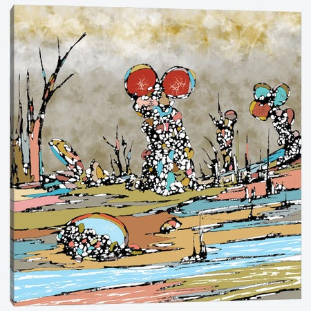 Water Land Canvas Print #BLO150} by J.Bello Studio Art Print