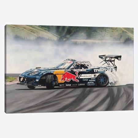 Mad Mike Drift Car Canvas Print #BLO24} by J.Bello Studio Canvas Print