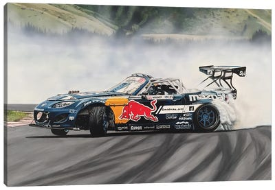 Mad Mike Drift Car Canvas Art Print
