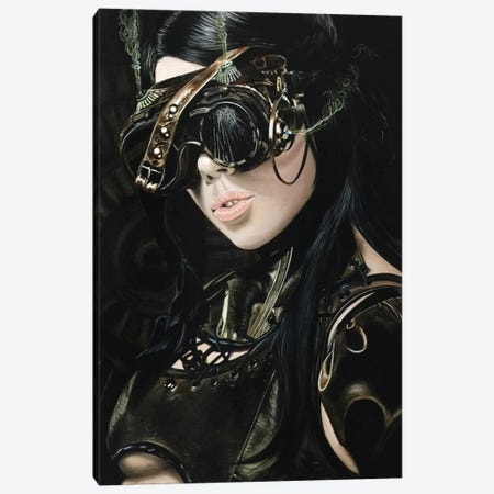 Steampunk Girl I Canvas Print #BLO31} by J.Bello Studio Canvas Print