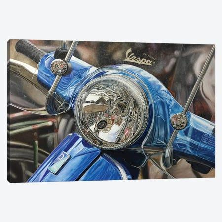 Vespa Canvas Print #BLO37} by J.Bello Studio Canvas Art