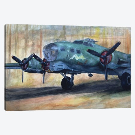 Vintage Plane I Canvas Print #BLO38} by J.Bello Studio Art Print