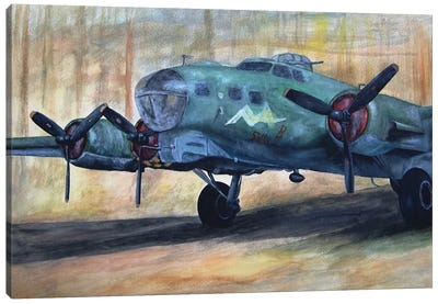 Vintage Plane I Canvas Art Print