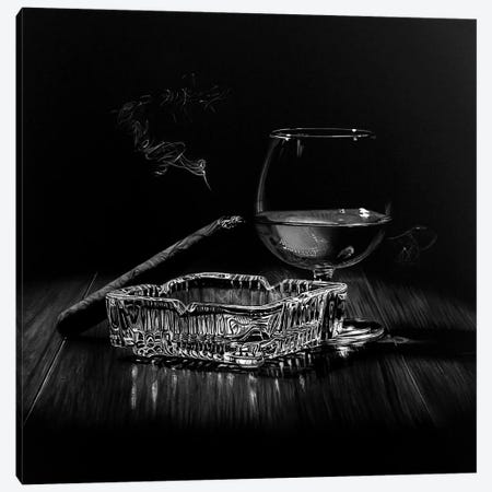 After Hours IV Black And White Canvas Print #BLO48} by J.Bello Studio Canvas Art