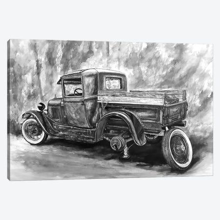 Journey Through The Past Black And White Canvas Print #BLO51} by J.Bello Studio Canvas Art Print