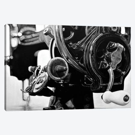 The Machine X Black And White Canvas Print #BLO53} by J.Bello Studio Canvas Art Print