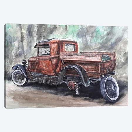 Journey Through The Past Canvas Print #BLO56} by J.Bello Studio Canvas Wall Art