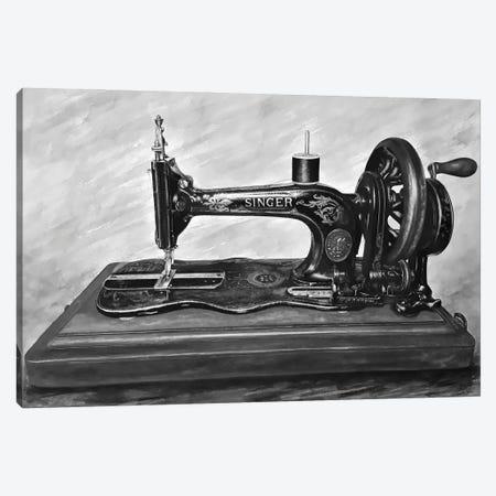The Machine III Black And White Canvas Print #BLO58} by J.Bello Studio Art Print