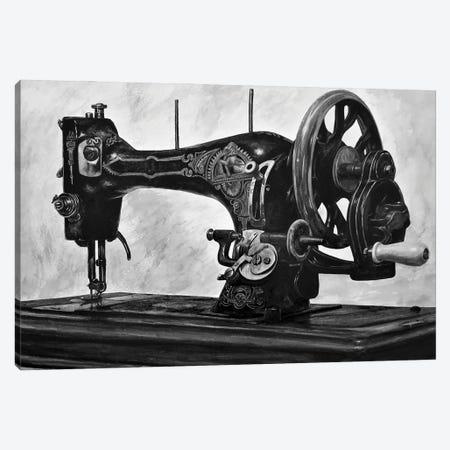 The Machine Black And White Canvas Print #BLO61} by J.Bello Studio Canvas Wall Art