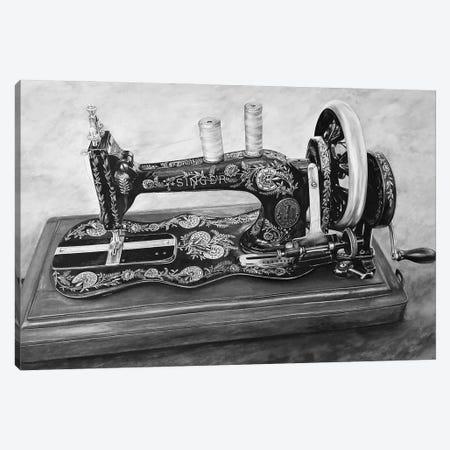 The Machine V Black And White Canvas Print #BLO65} by J.Bello Studio Canvas Print