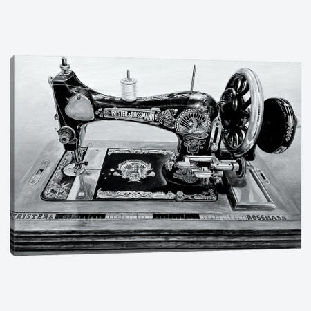 The Machine XII Black And White Canvas Print #BLO71} by J.Bello Studio Art Print