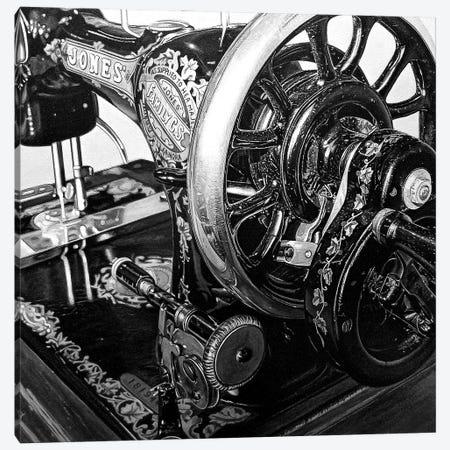 The Machine XIV Black And White Canvas Print #BLO73} by J.Bello Studio Canvas Print